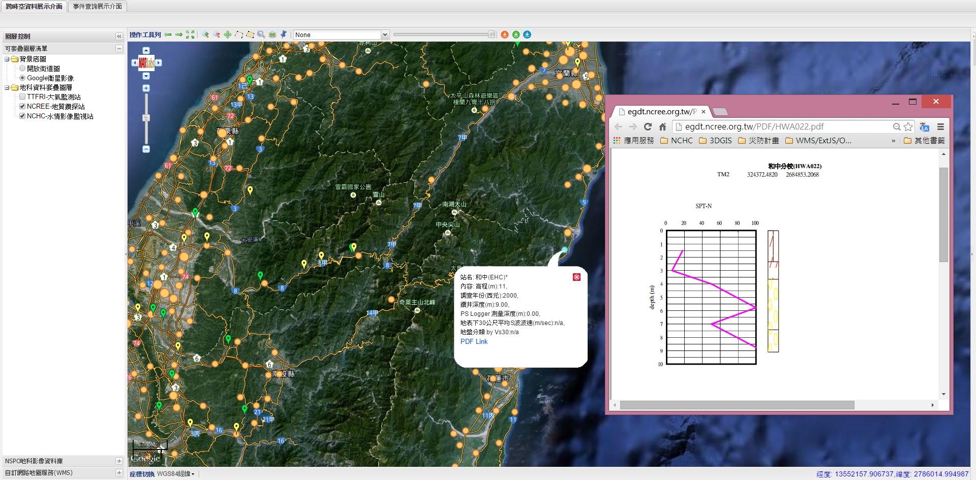 【demo3】國震地質鑽探站資料展示