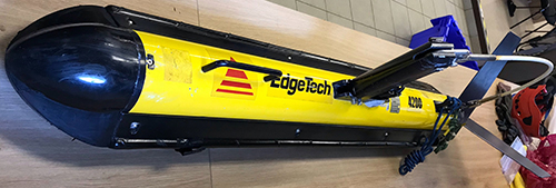 Portable towed side-scan sonar. (Photo credits: NAR Labs)