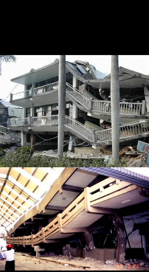 圖一、921地震校舍災損。