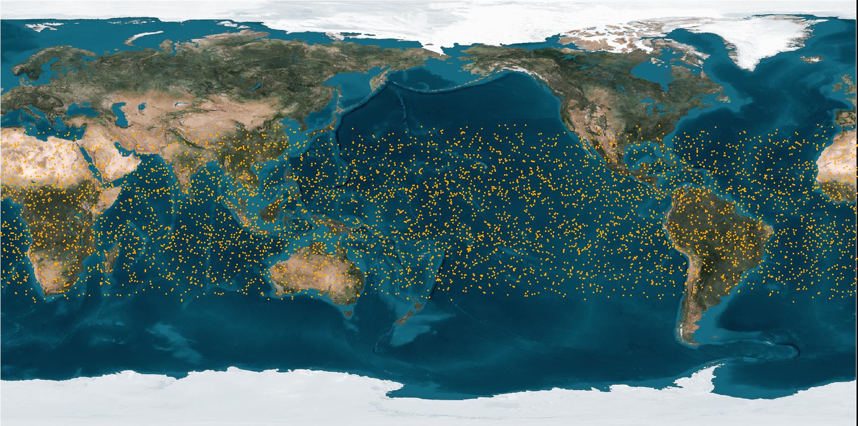 福衛七號六顆衛星每日可提供在南北緯50度間約4000掩星資料